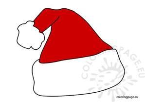 santa claus hat vector coloring page