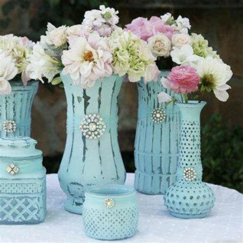 diy chalk paint vases painted vases craft ideas