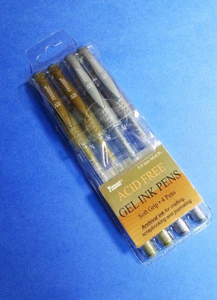 Metallic Ink Pen 4 metallic acid free gel ink pens for scrapbooking