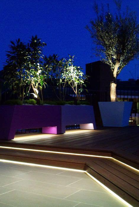 led lighting hardwood deck tiles  powder coated