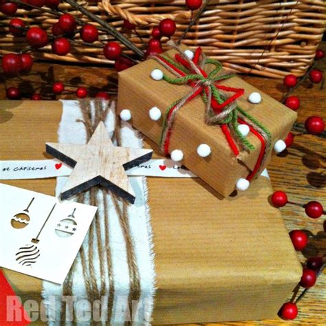 brown christmas gifts brown paper decorations www indiepedia org