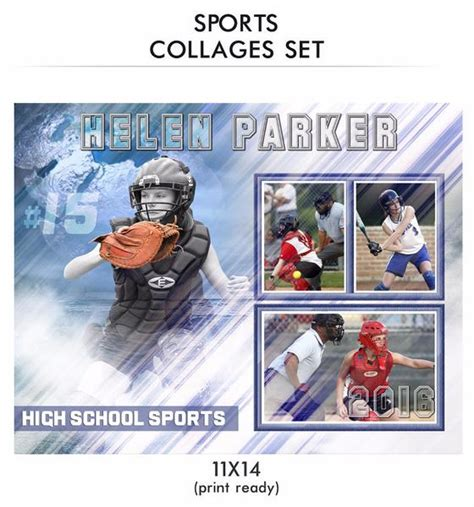 sports templates for photographers helen sports collage photoshop template