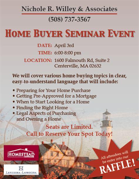 realestate homebuyer seminar flyer design branding