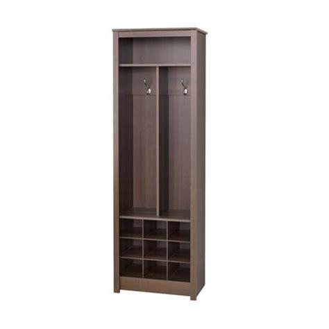 space saving entryway organizer with shoe storage