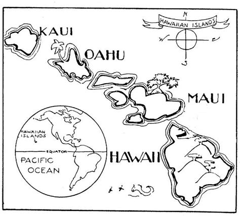 coloring page hawaii a to z stuff hawaii map color page