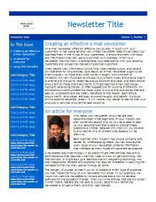 company newsletter template free best photos of business newsletter templates best