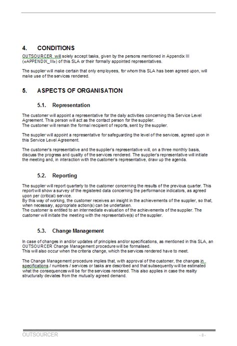 Outsourcing Agreement Format Letter the outsourcing contract or outsource contract and agreement