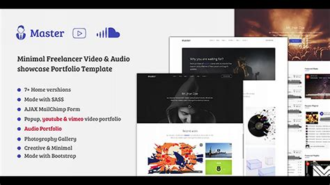 themeforest freelancer master freelancer video audio portfolio html template