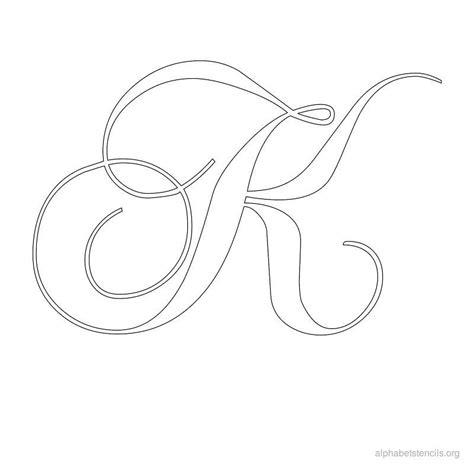 printable calligraphy stencils alphabet stencils calligraphy k stencils pinterest