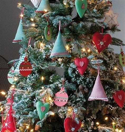 gingham tree decorations 183 extract from holiday crafts by