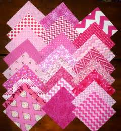 25 pink prints cotton quilting fabric 5 inch squares 85