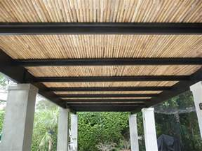 Bamboo Sun Shades Patio 25 Best Ideas About Pergola Roof On Pinterest Pergolas