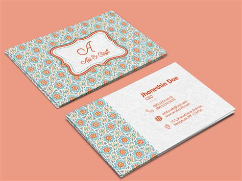 craft business card template 20 professional business card design templates for free