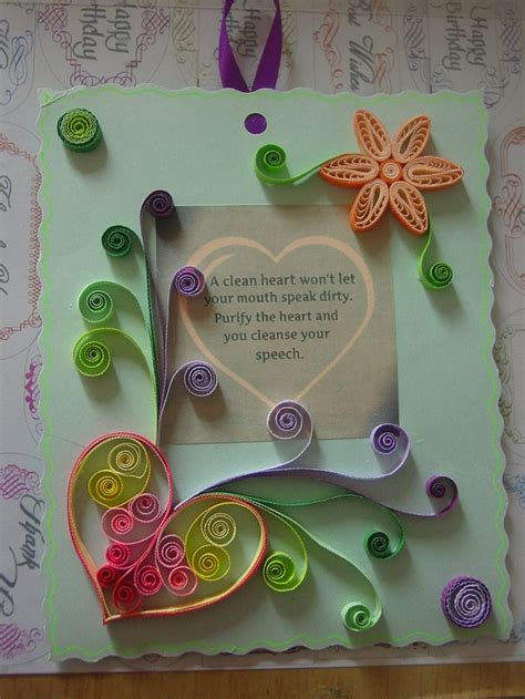Paper Craft Greeting Cards - paper craft greeting cards scrapbook paper idea