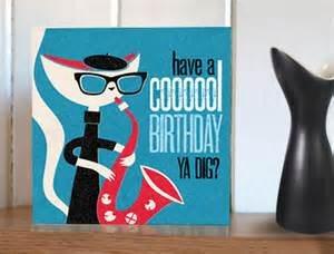 Home gifts jazz cats cool birthday card
