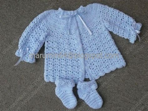 chambritas tejidas a dso agujas con canesu redondo paso a paso chambras beb 233 crochet 2015 imagui