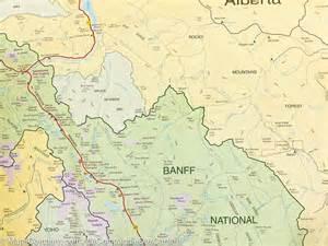 canada map banff carte d 233 taill 233 e du parc national banff la compagnie des