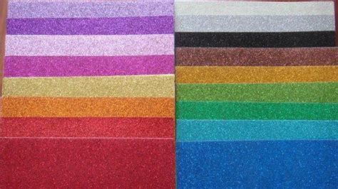Glitter Paper Craft - color glitter paper for craft work and wrapping kt 003