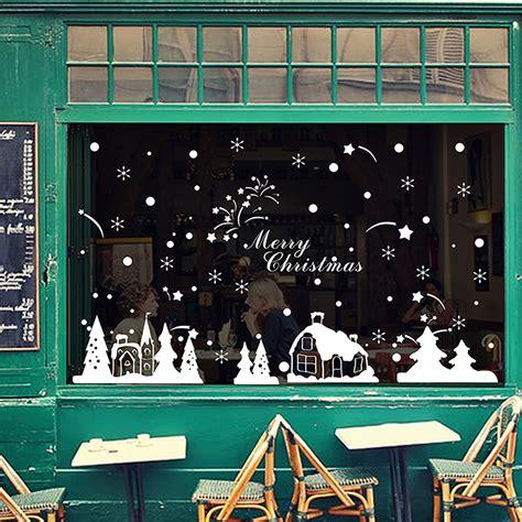 Snowflake Wall Stickers fenstersticker fenster deko winter advent weihnachten