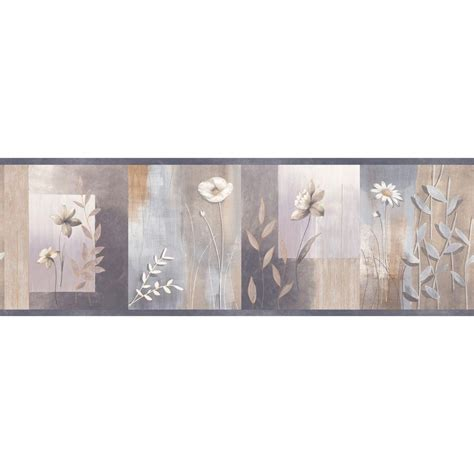 bathroom wallpaper borders home depot chesapeake bonnard colorblock floral wallpaper border