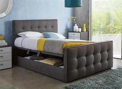 ottoman bedroom kaydian walkworth oatmeal fabric ottoman storage bed