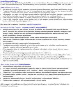 Benefits Manager Description by Descriptions Start With A Baseline