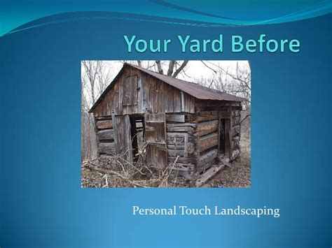 personal touch landscaping presentation