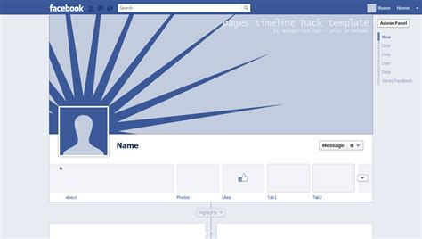 facebook page timeline template images