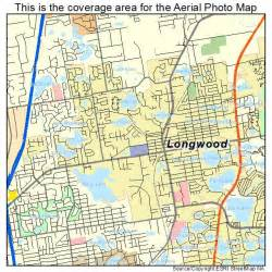 aerial photography map of longwood fl florida