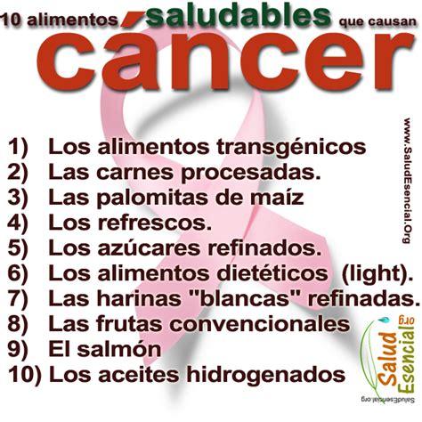 alimentos que provocan cancer enfermedades