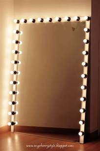 Vanity Lights Diy Diy Style Mirror With Lights Tutorial From