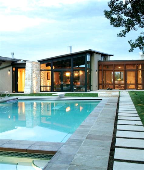 modern home design with pool comfortable and modern backyard designs with pools