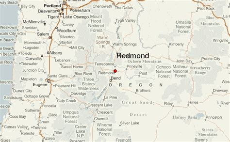 maps redmond redmond oregon location guide
