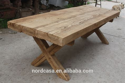 vintage reclaimed thick wood slab dining table buy