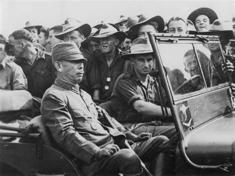 japanese jeep ww2 australian soldiers near the jeep willys with a japanese
