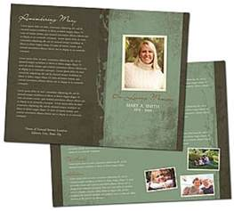 memorial bulletin template funeral program template
