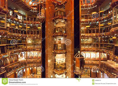 interno nave da crociera interno della nave da crociera fotografia stock immagine