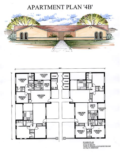 house plans with mil apartment apartments4b