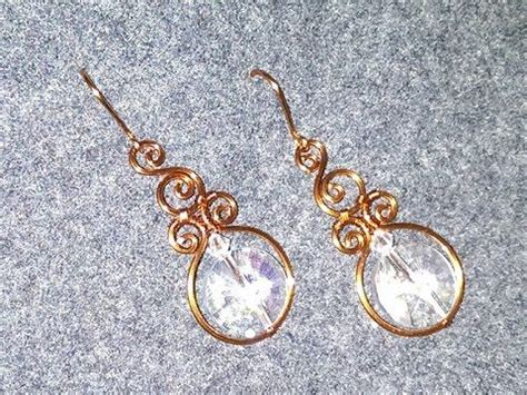 Handmade Wire Jewelry Tutorials - how to make wire earrings with big stones diy handmade
