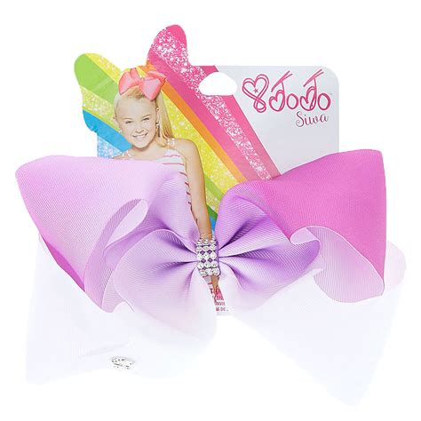 Jojo Siwa Bow By Timorashop jojo siwa large purple white ombre signature hair bow