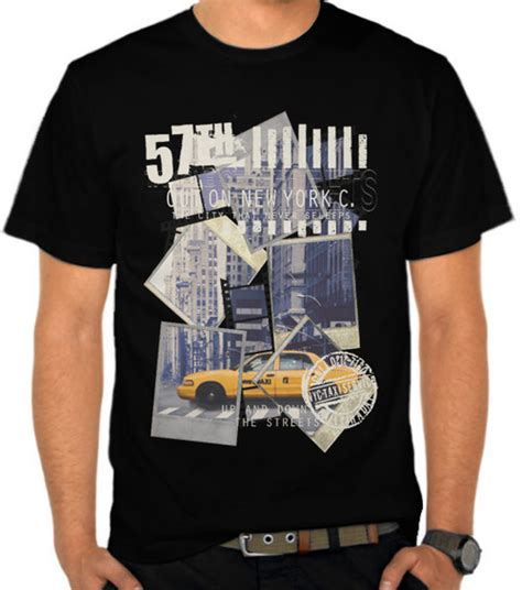 Kaos Cotton New York City jual kaos kota new york usa america satubaju