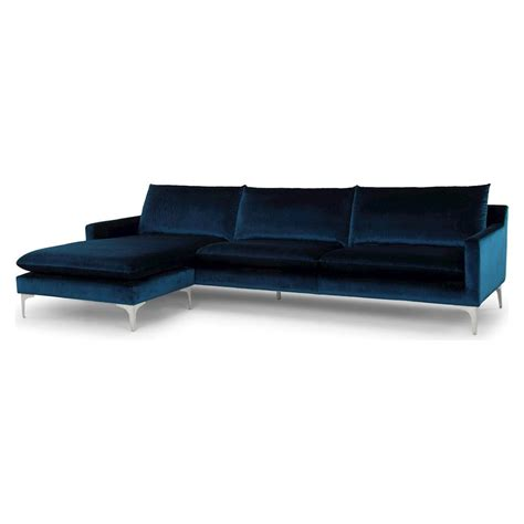 midnight blue sectional sofa modern sectionals andre midnight blue sofa eurway