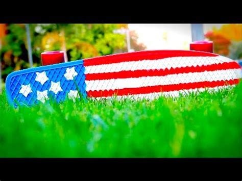 Penny Board Giveaway - custom american flag penny board youtube