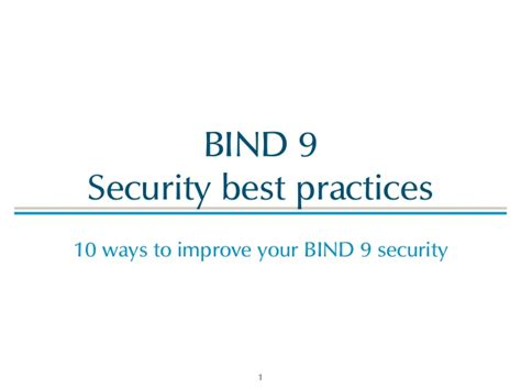 a secure bind 9 best practices
