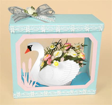 3d Card Craft Templates by A4 Card Templates Beautiful 3d Swan Display Box