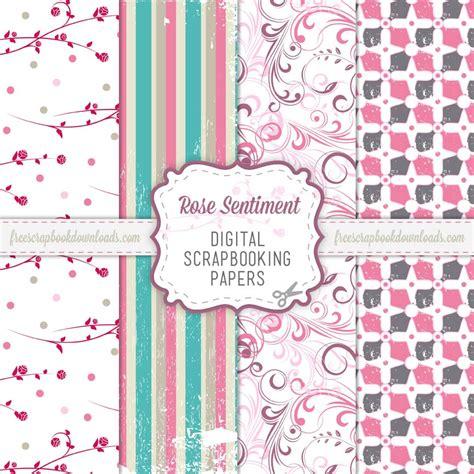 Digital Scrapbooking Free Downloads by Free Digital Pink Scrapbooking Paper Pack