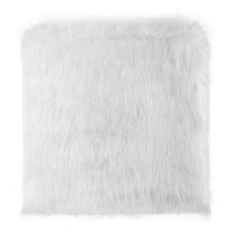 white fur ottoman target sechura grey faux fur ottoman