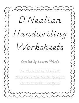 D Nealian Cursive Worksheets by All Worksheets 187 D Nealian Handwriting Worksheets Printable Printable Worksheets Guide For