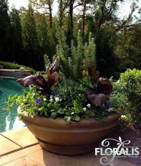 Poolside Planters by Fall Pool Bowl Planter Pool Designs Ideas
