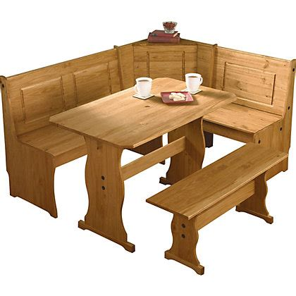 corner table and bench set puerto rico 3 corner bench nook pine table and bench set